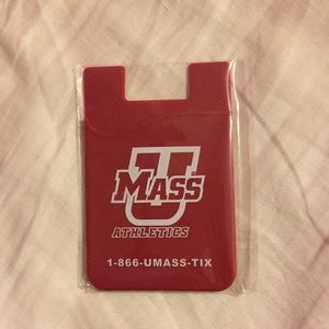 UMass sticky cell phone wallet